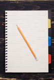 Empty notepad and pencil Stock Photography