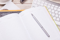Empty notepad, tablet pc and smart phone Royalty Free Stock Images