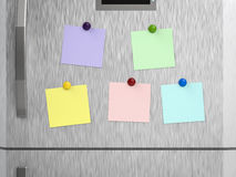 Empty notes on refrigerator. 3d rendering empty notes on refrigerator vector illustration
