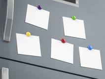Empty notes on refrigerator Royalty Free Stock Photo