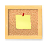 Empty notice wooden board Stock Photography