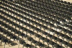 Empty numbered seats Royalty Free Stock Photo