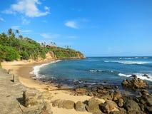 Empty ocean beach with greens and sand, Sri Lanka Stock Photos