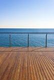 Empty ocean viewpoint deck Stock Photo