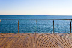 Empty ocean viewpoint Royalty Free Stock Images