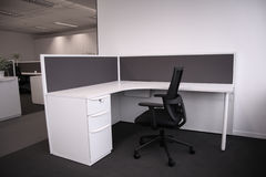 Empty office. Empty new office, black and white Stock Photography