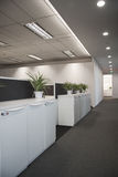 Empty office. After work with postings and sunlight Royalty Free Stock Images