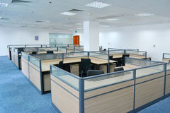 Empty office. Empty big office with modern decoration Royalty Free Stock Photos