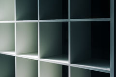 Empty office or bookcase library shelves Royalty Free Stock Photography