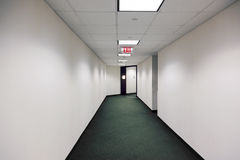 Empty office building hallway Stock Image