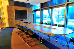 Empty office conference room. Nobody in it stock photo