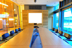 Empty office conference room. Nobody in it stock photos