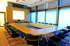 Empty office conference room. Nobody in it stock images