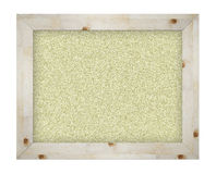Empty office cork notice board. Isolated with wood frame Stock Images