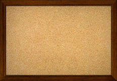 Empty office cork notice board. With wood frame Royalty Free Stock Images