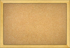 Empty office cork notice board. With wood frame Stock Photography
