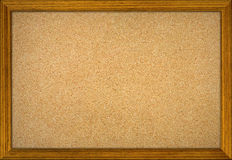 Empty office cork notice board. With wood frame Royalty Free Stock Image