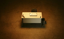 Empty office desk Royalty Free Stock Images