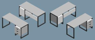 Empty office desk. 3d Vector illustration vector illustration