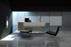 Empty office interior stock illustration