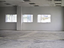 Empty office interior. White empty office interior, office building Royalty Free Stock Photo
