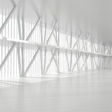 Empty Office Interior with Columns. 3d illustration Stock Photography
