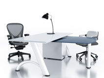 Empty office room. With table and armchairs Stock Image