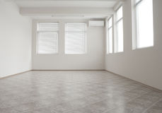 Empty office room with air-conditioner stock image