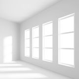 Empty Office Room. 3d Illustration of Empty Office Room royalty free illustration