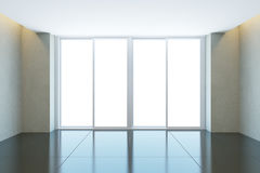 Empty office room with window Royalty Free Stock Photography