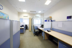 Empty office with separated by partition jobs Stock Photo