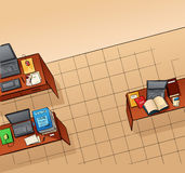 Empty office vector illustration