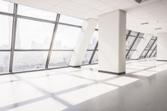 Empty office space with large window Royalty Free Stock Image