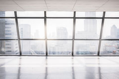 Empty office space with large window Stock Image