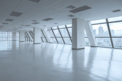 Empty office space with large window Royalty Free Stock Images