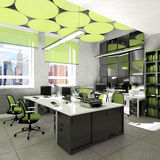 Empty office work place visualization Royalty Free Stock Image