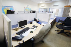 Empty official place separated by partition Stock Photos