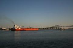 Empty Oil Tanker Stock Photo