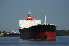 Empty oil tanker. On Mississippi River Royalty Free Stock Images