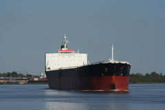 Empty oil tanker. On Mississippi River Royalty Free Stock Photography