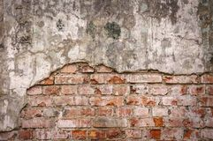 Free Empty Old Brick Wall Texture. Painted Distressed Wall Surface. Grungy Wide Brickwall. Grunge Red Stonewall Background Royalty Free Stock Images - 145846649