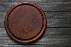Empty old cutting board Royalty Free Stock Photo