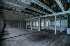 Empty old factory halls. Empty old abandoned factory halls Stock Image