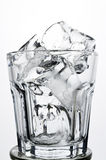 Empty old fashioned glass with ice showing drink concept. Empty old fashioned glass with ice Stock Image