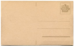 An empty old German postcard. Stock Photography