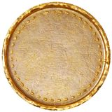 Empty old gold coin Royalty Free Stock Photos