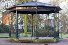 Gouda, South Holland/The Netherlands - March 31 2018: Empty old and historic band stand in city park stock image