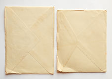 Empty old letter envelopes , vintage paper Royalty Free Stock Images