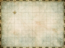 Empty old map background Royalty Free Stock Photography