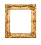Empty old painting frame Stock Image